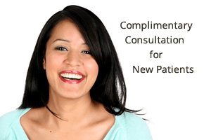 Complimentary consultation for new patients